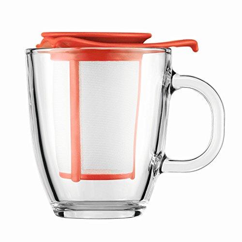 Bodum Yo Yo - Mug and Tea Strainer Set - 035l12oz - Orange 137