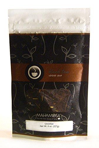 Mahamosa Flavored Black Tea Blend and Tea Filter Set 8 oz Licorice Black Tea 100 Loose Leaf Tea Filters Bundle- 2 itemsTea Ingredients Black tea and licorice root with sambuca flavor