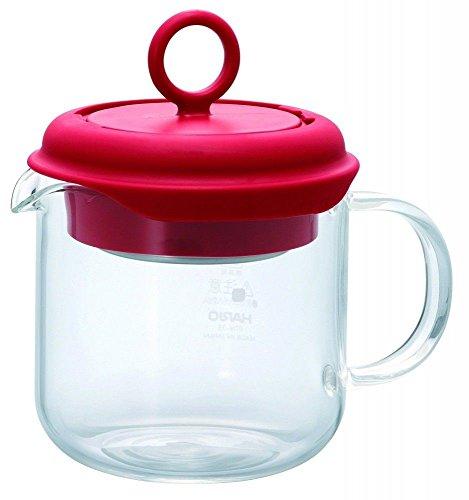 Hario Tea Maker Pot Pull-Up Infuser Heat-resistant Glass Red 350ml PTM-35-R FS TM79F-32M UGBA672969