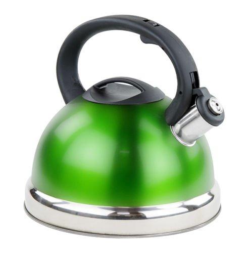 Stainless Steel Whistling Tea Kettle - Tea Maker Pot 28 Liters - Green