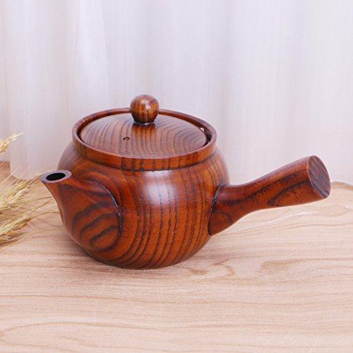 StarShine Chinese Style Nature Wooden Teapot Portable Coffee Tea Maker Pot Kettle