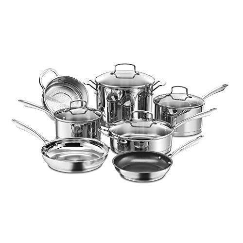 Cuisinart 89-11 11-Piece Professional Stainless Cookware Set Renewed