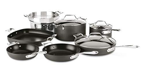 All-Clad H911SA64 Essentials Nonstick Cookware set 10 Piece Grey