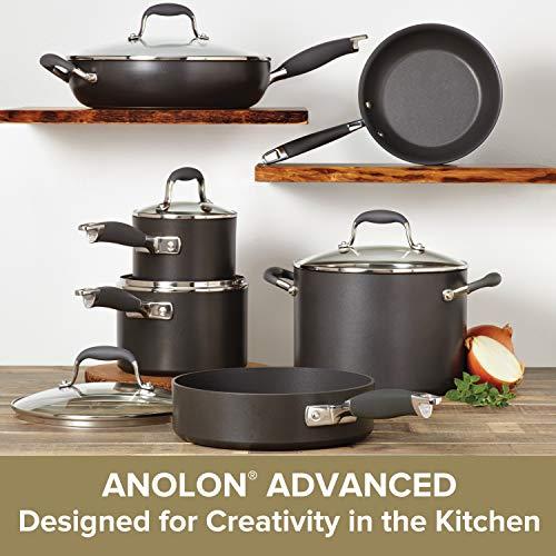 Anolon 82676 Advanced Hard Anodized Nonstick Cookware Pots and Pans Set 11 Piece Graphite