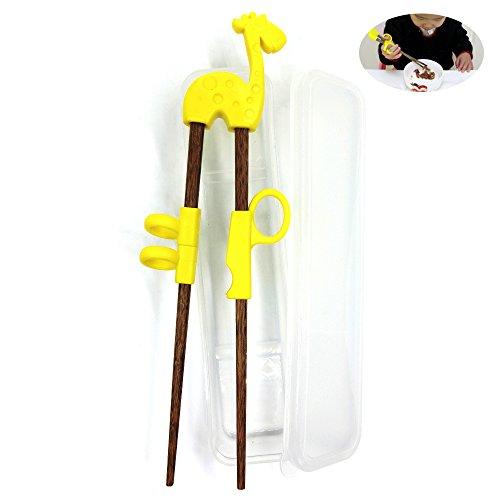 Dancepanda Training chopstickChopstick Helper for Children KidsNatural Wooden Training Chopsticks deep wood