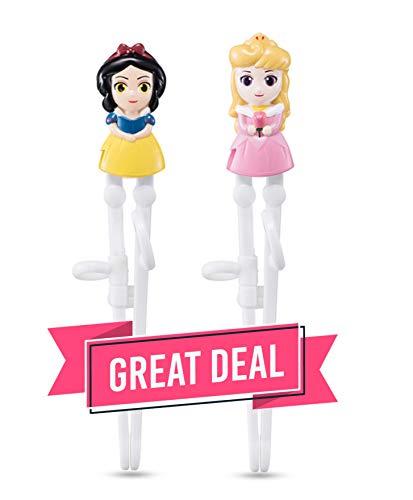 Princess Snow White Aurora Training Chopsticks for Right-handed Children Kids 2 pairs