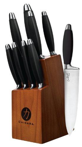 Ginsu 5829 Comfort Grip Series Black Cutlery Set 10-Piece
