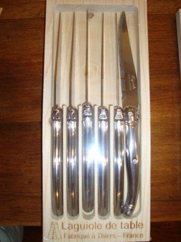 Jean Dubost Laguoile Stainless Steel Steak Knife Set Silver Handles