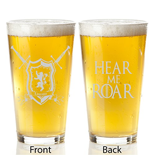 Game of Thrones Lannister House - Engraved Pint Glass