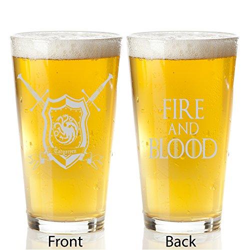Game of Thrones Targaryen House - Engraved Pint Glass