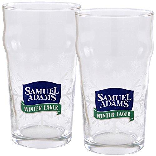 Samuel Adams Winter Lager Pint Glasses - Set of 2