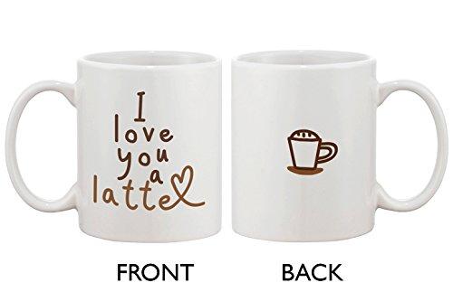 Funny and Cute Ceramic Coffee Mug - I Love You a Latte