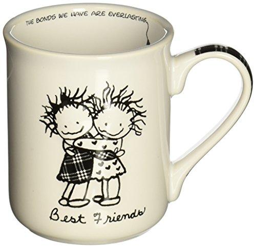 Enesco Children of the Inner Light Best Friends Stoneware Gift Mug 16 oz