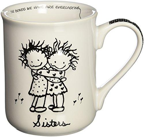 Enesco Children of the Inner Light Sisters Hugging Stoneware Gift Mug 16 oz