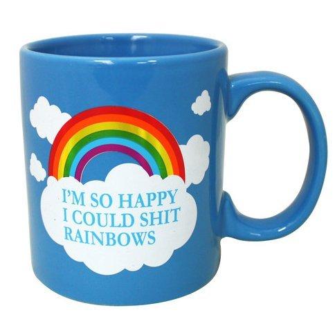 Im So Happy I Could Shit Rainbows 16oz Coffee Mug