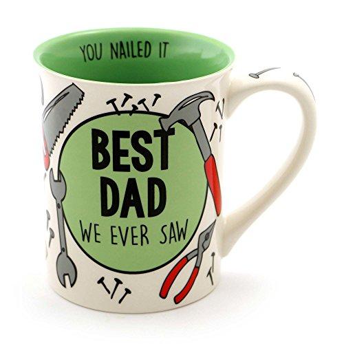 "Our Name is Mud ""Best Dad"" Stoneware Coffee Mug 16 oz"
