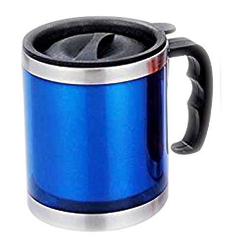 STREET CRAFT Stainless Steel Computer  Travel Mug leek proof Lid 16 oz Coffee Mug Dual Wall Air Insulated Beer Beverage Mug  Coffee Cup - Keep Your Beer Colder Coffee Hotter Longer BLUE