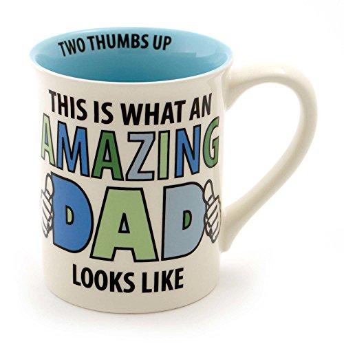 "Our Name is Mud ""Amazing Dad"" Stoneware Coffee Mug 16 oz"