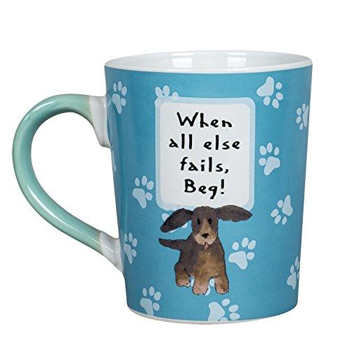 When All Else Fails Beg Pet Dog Paw 20 oz Ceramic Stoneware Coffee Mug