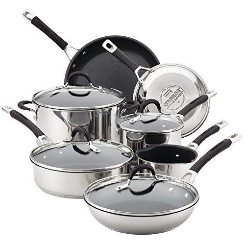 Circulon 78003 Momentum Stainless Steel Cookware Pots and Pans Set 11 Piece