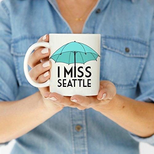 I Miss Seattle Blue Coffee Mug