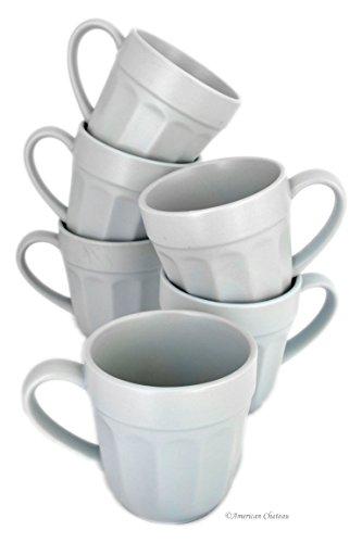 Retro Set 6 Cup Vintage-Style Pastel Blue Coffee Mugs Cups Bistro Cafe Decor