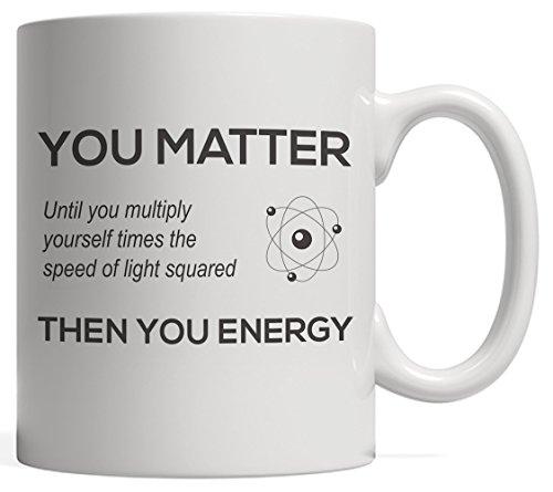 LALKIO Personalized Ceramic Coffee Mug - You Matter Then You Energy Mug - Tea Mug Beverage Mug White Mug 11 Ounce