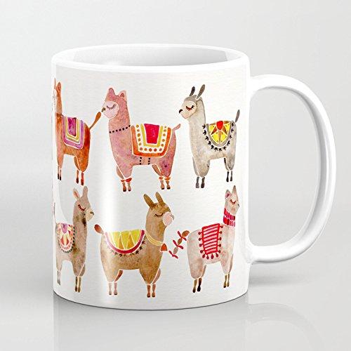 LVYZIHO Mug - Alpacas Personalized Ceramic Coffee Mug White - Funny Wine Mug - 11OZ Coffee Mug - Perfect for Wedding Mothers Day Fathers Day or Friends