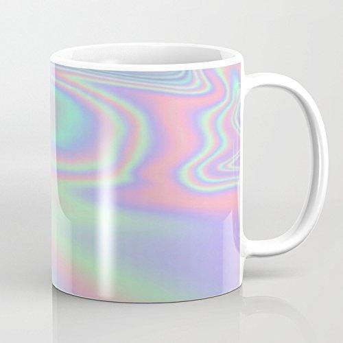 LVYZIHO Mug - Iridescent Personalized Ceramic Coffee Mug White - Funny Wine Mug - 11OZ Coffee Mug - Perfect for Wedding Mothers Day Fathers Day or Friends