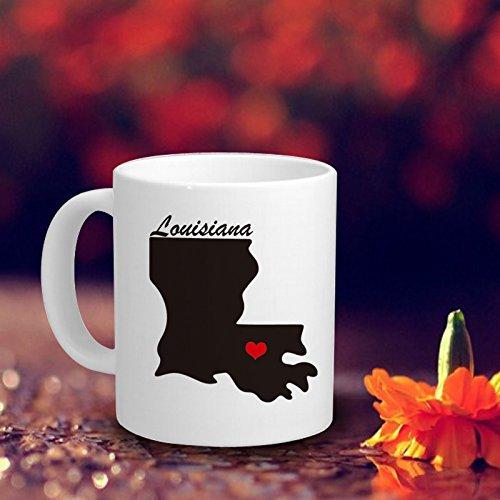 Personalized Louisiana Coffee Mug Home State Coffee Mugs Funny Coffee Cup Gift Ideas for Women Coffee Mug Ceramic