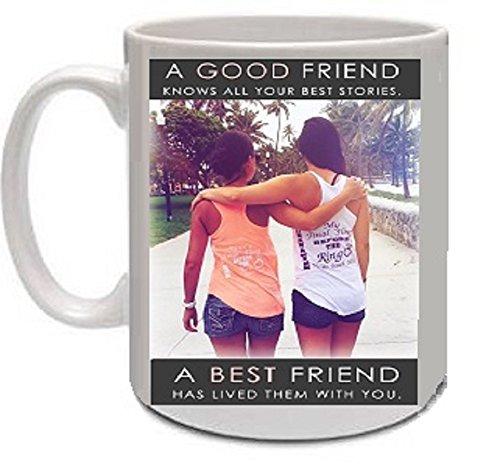 Large White Coffee Mug 16oz Novelty Gift - Good Friends