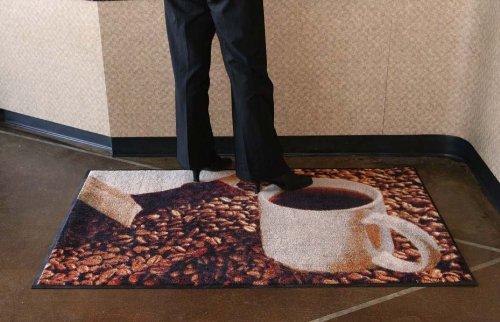 Workplace Message Mat - Coffee Mug Decorative Floor Mat - 3 x 5