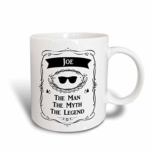 3dRose 232311_1 Jeff-The Man The Myth The Legend Name Personalized Gift Mug 11 oz White