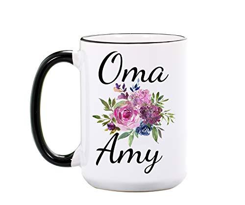 Oma mug - Personalized Large 15 oz or 11 oz Ceramic Cup - Oma Gifts - Grandma Mugs - Gift for Grandmas - Omas Coffee Cups - Dishwasher Microwave Safe - Made In USA