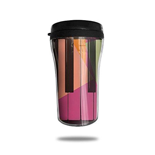 Piano Keys Pop Art Colorful Coffee Cup Personalized Travel Mug