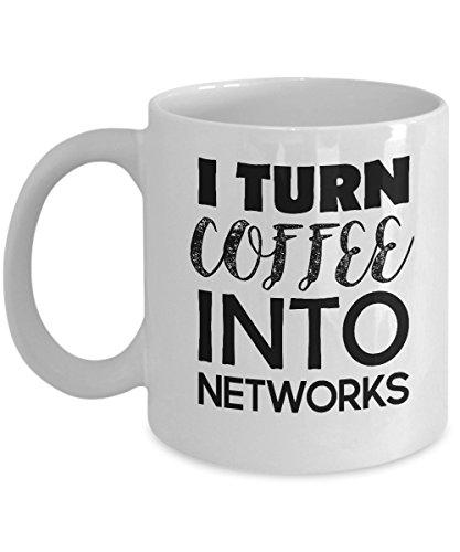 Network Engineer Mug Gift for Networking I Turn Coffee into NETWORKS Nerd Gift Nerd Mug Geek Gifts for Computer Engineers Funny Humorous Mug