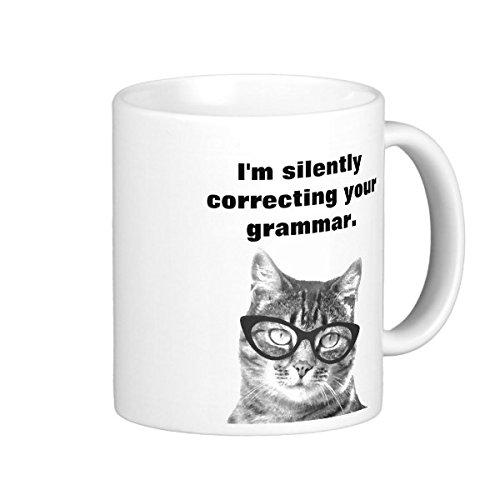 Im Silently Correcting Your Grammar Coffee Travel Mugs Grammar Police Imprinted Coffee Mugs