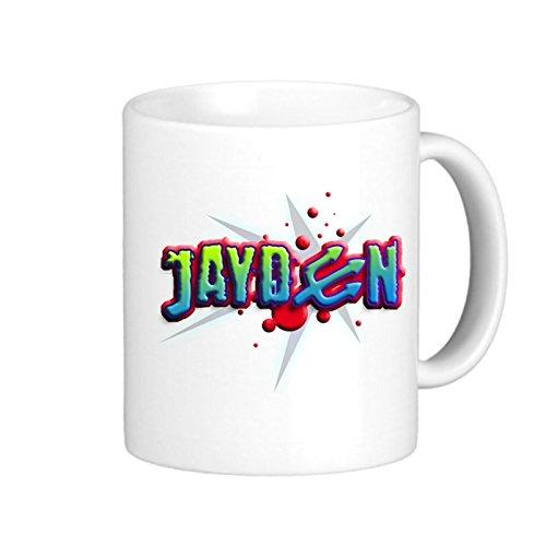 SthAmazing Boys Name 012014 Jayden C Gift Mugs Imprinted Coffee Mugs