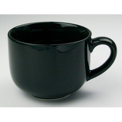 OmniWare Teaz Cafe Black Stoneware 24 Ounce Jumbo Coffee Mug Set of 4