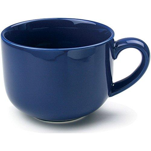 OmniWare Teaz Cafe Navy Blue Stoneware 24 Ounce Jumbo Coffee Mug Set of 4