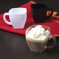 Square Premium Plastic 4 Oz Coffee Mugs Clear 96pc Espresso Mug Dessert Cup Party Accessory