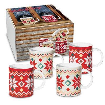 Winter Feelings Holiday Coffee Mug Set of 4