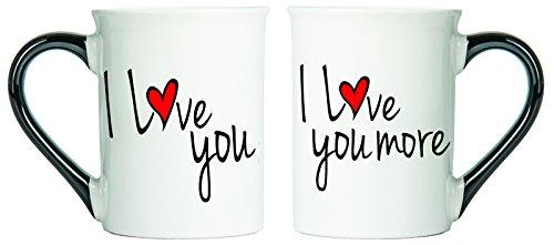 I Love You I Love You More Mugs Set Of Two Coffee Cups Spouse Mugs Ceramic Mugs Custom Gifts By Tumbleweed