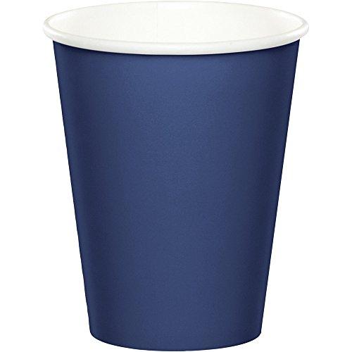 48 Navy Blue Premium 9oz HotCold Cups Bulk Party Supply Wedding Shower Birthday Anniversary