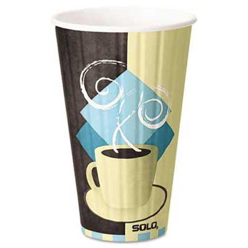 SOLO Cup Company Duo Shield Hot Insulated 16oz Paper Cups Beige 525Carton