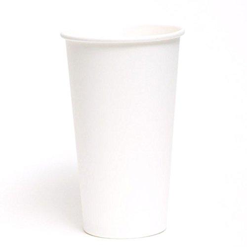 GSC PAPER HOT COFFEE CUPS 20 OZ - PLAIN WHITE 600 PCSCS