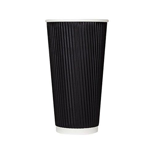 Karat C-KRC520B 20 oz Ripple Paper Hot Cups - Black Case of 500