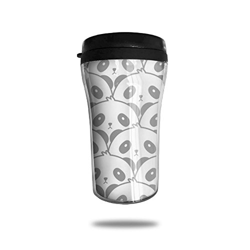 Cute Panda Nerd Popular Handy Travel Coffee Mug For Sport Home Office School Ice Drink Hot Beverage Cup With Lid Water Bottle