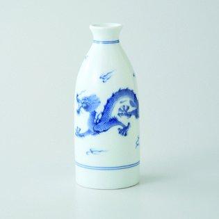 Japanese porcelain Hasami ware Set of 2 kameyameryue tokkuri sake bottles hsm-J39-73386