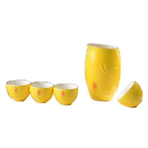 FANCY PUMPKIN Japanese Ceramic Sake Bottle Cups Sets Sake Flask for Sushi Bar 04